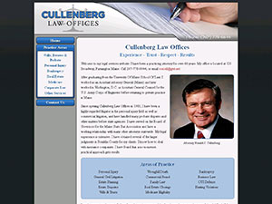 Cullenberg Law Offices Website Thumbnail